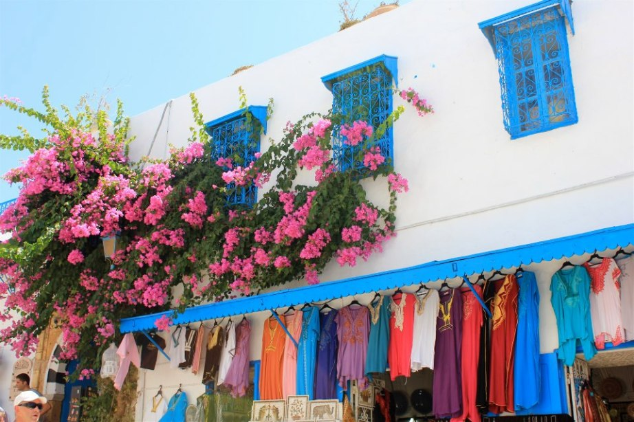 Clothes in Sin Bou Said, Tunisia