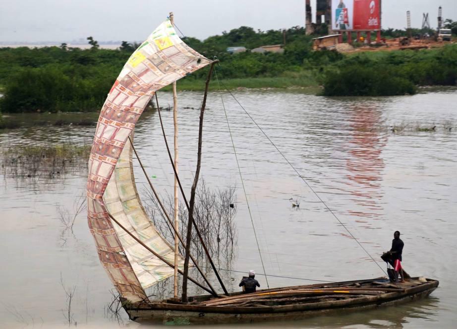 Returning from a fishing trip, Lagos Lagoon, Lagos Nigeria