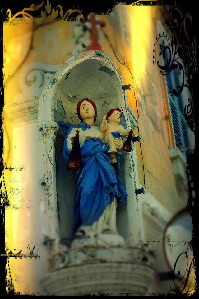 Church decorations in Sliema, Malta